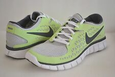 WOMENS NIKE FREE RUN+ GRAY LIME GREEN SIZE 11.5 RUNNING WALKING SHOES MENS 9.5
