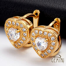 VALENTINE DAY HER GIFT Gold Heart hoops Earrings USGM088EE