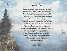 Father Dad Personalized Poem Gift For Birthday, Christmas