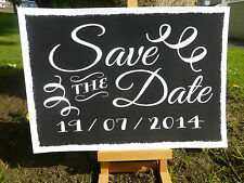 chalk style SAVE THE DATE posters signs MY HUMANS ARE GETTING MARRIED photo prop