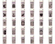 DOVECRAFT SUMMER PHOTOPOLYMER CLEAR  STAMPS - 30 DESIGNS BARGAIN 99P EACH