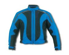 New Black/Blue 600D MESH Waterproof Armored Motorcycle Jacket Size 54,56 Reg$149