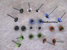 20 Pair 3mm or 4mm or 5mm or 6mm Glass Eyes on Wire Pin needlefelt bear GP-201