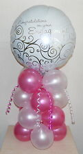 ENGAGEMENT - CONGRATULATIONS  -  FOIL BALLOON DISPLAY   -   TABLE CENTREPIECE