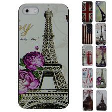 So Cheap~11 Style❤Tower&Flag❤Patterns Skins Durable Case Cover For iPhone 5/5S