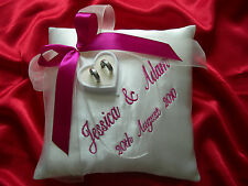 PERSONALISED wedding ring cushion / pillow 59 colours ! Any LANGUAGE