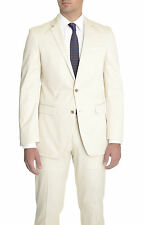 Kenneth Cole Slim Fit Solid Tan Two Button Cotton Suit