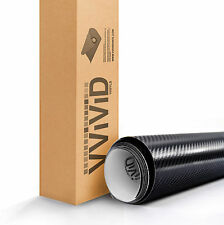 VViViD Black True R Carbon Fiber Vinyl Car Wrap Air Release TRUERBL5M01 1ftx5ft