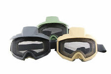 Airsoft paintball actical military goggles Clear Lens/Metal mesh Eyewear goggles