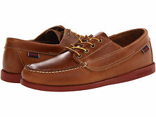 NEW IN BOX!! SEBAGO Mens Campsides Lace Up Boat Shoes Cognac Leather B694010