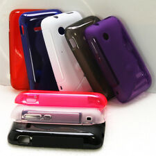 S-Line TPU GEL Case Cover w/accessory for Sony Xperia tipo, Tapioca, ST21i ST21a
