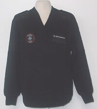 ST JOHNS Black sweater/Jumper (New) with patches and badges #12253