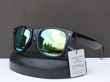Retro 80s Wayfarer Mirrored Revo Lens Designer Sunglasses +Microfiber Bag 154316