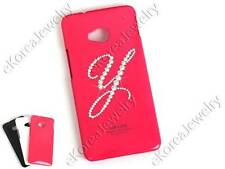 Bling Crystal Initial Y Cell Phone Case with Swarovski Elements for HTC ONE (M7)