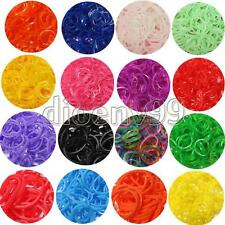 600 Rubber Bands 24 Clips Hook Refill Glitter Jelly Tie Dye DIY For Rainbow Loom