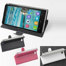 "Luxury Original Folio Leather Case Cover Skin For 5"" Cubot S208 Smartphone L-R"