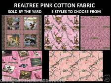 REALTREE COTTON PINK FABRIC-REALTREE PINK FABRIC-CHOOSE FROM 6 DESIGNS-PINK CAMO