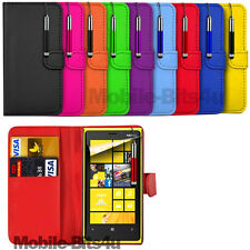 PU LEATHER WALLET CASE COVER, RETRACTABLE STYLUS & FILM FOR NOKIA LUMIA 920