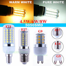 E27 E14 G9 G4 27 48 69 SMD 5050 LED Spot Light Corn Lamp Bulbs 4.5W 6W 8W Lots