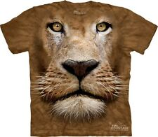 Lion Face Kids T-Shirt from The Mountain. Zoo Jungle King Childrens Sizes NEW