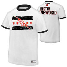 WWE AUTHENTIC CM Punk BEST IN THE WORLD White T-Shirt  - BRAND NEW