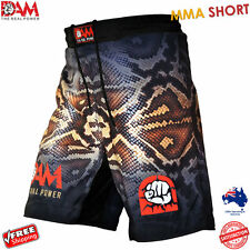 NEW DAM Pro MMA Fight Shorts SNAKE SKIN UFC Cage FightGrappling MuayThai Boxing