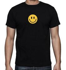 New Men's Printed Smiley Face Funny SMILE HAPPY Cute MMA SHORT SLEEVE Tee Shirt