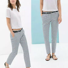 Streetstyle Celebrity Blogger Vintage Women New Fashion Stripe Pants Trousers