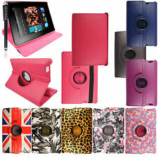 For Amazon Kindle Fire HD 7 (2013) 2nd Gen Printed PU Leather Case Cover+Stylus