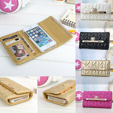 Luxury Bling Bow Credit Card Holder Wallet Leather Case For iphone 4S 5 5S 6 4.7