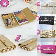 Bling Bow Credit Card Holder Wallet Leather Case For Samsung Galaxy Note 3 N9000