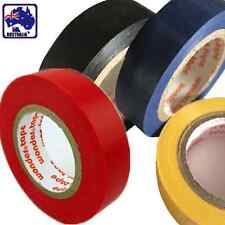 2x PVC Electrical Insulation Tape Insulating Seal 18m Red Blue Black Yellow