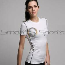 ATHLETE BX Basic Ladies Lightweight Compression Base Layer Short Sleeve Gym Top
