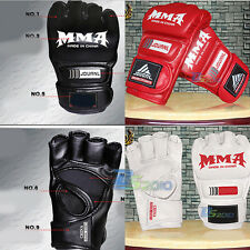 Grappling MMA Sanda Gloves UFC Muay Thai Training Half Mitts Boxing Fight Gloves