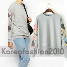 New Europe US Women Mickey Mouse Printed Cartoon Sweatshirt Sweats Tee Top M54