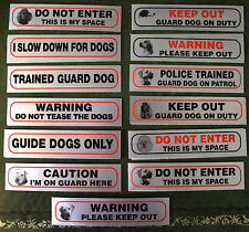 WARNING DOG STICKER SIGNS - VARIOUS TYPES