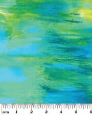 Monet Watercolor Fabric Available 5 Colors - See Pictures Blue Green Sunshine