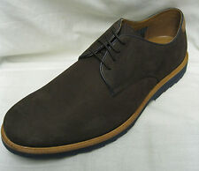 Mens Clarks Fulham Walk Dark Brown Nubuck Casual Lace Up Shoes.