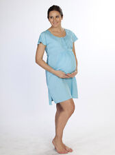 Angel Maternity Hospital Delivery/ Nursing Gown - Light Blue colour - N8108HRP