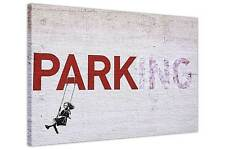 BANKSY PARKING SWING GIRL CANVAS WALL ART PRINTS HOME PHOTO PRINTING PICTURES