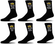 Luxury Keep Calm and Take a Pew Black  Wedding Socks, Groom, Best Man, Usher
