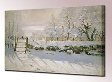Monet Canvas Wall Art Print Picture The Magpie Framed Ready To Hang