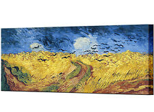 Wheatfield with Crows Canvas Print Van Gogh Framed Ready to Hang Wall Art