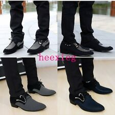 2014 Trendy British Style men's Lace-Ups pointed toe casual dress shoes all size