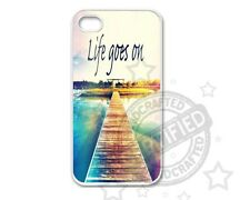 Apple iPhone 4,4S / 5,5S /5C Case Quote Life Goes On Hard Case