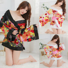 NEW Sexy Japanese Kimono Pajama Nightwear Lingerie Dress Robe Babydoll Clothing