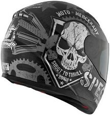 NEW Speed and Strength SS1100 Full Face Helmet Moto Mercenary Black GSXR CBR KAW