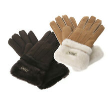 Ozwear UGG Premium Sheepskin Double Cuff Glove (Gloves) in Chocolate or Chestnut