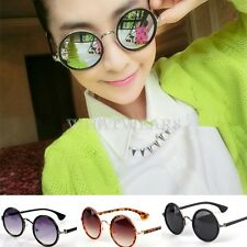 Summer New Womens Girls Round Shaped Metal Frame Retro Sunglasses W5052 FUK