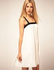ASOS Cream Swing Dress with Black Contrast straps - on ASOS Website now 8 - 14